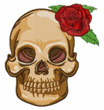 Skull with prickly rose 2