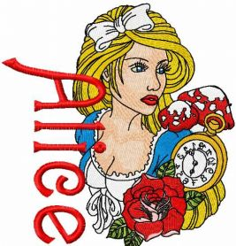 Alice embroidery design
