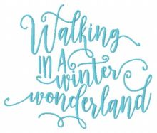 Walking in a winter wonderland 2