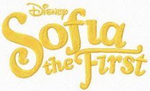 Sofia the First one color logo 2