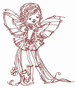 Young fairy with frog 2
