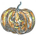 Scary pumpkin 3 embroidery design