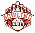 Bowling club 2 embroidery design
