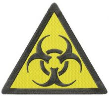 Biohazard road symbol