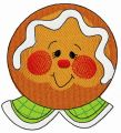 Gingerbread man 6 embroidery design