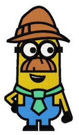 Minion in Tyrolean hat machine embroidery design