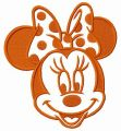 Minnie Mouse have a good day embroidery design