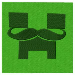 Creeper with mustache