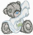 Teddy Bear getting ready for bed embroidery design