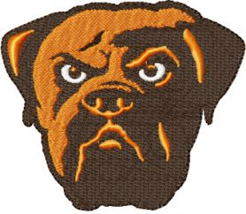 Cleveland Bowns alternate logo machine embroidery design