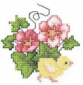 Easter Flowers Chicken free embroidery design