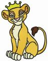 Crowned Simba embroidery design