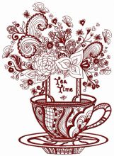 Tea time post card 2