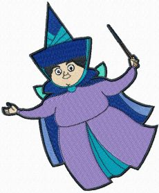 Merryweather fairy machine embroidery design