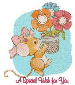 A special wish for you machine embroidery design