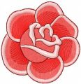 Red rose 9 embroidery design