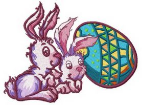 Easter bunnies 2 machine embroidery design