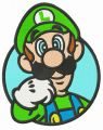 Nintendo Luigi embroidery design