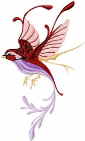 Fantastic Bird machine embroidery design