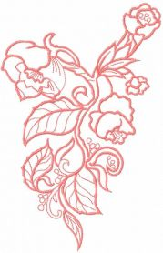 Pink flower free embroidery design 36