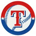 Texas Rangers logo 3 embroidery design