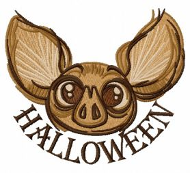 Halloween bat 3 machine embroidery design
