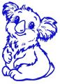 I'm koala girl 3 embroidery design