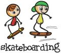 Skateboarding embroidery design