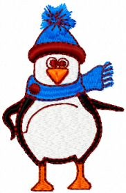 Penguin free embroidery design