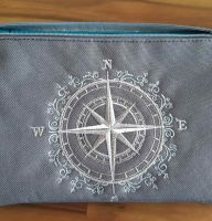 Beauty bag nautical style embroidered