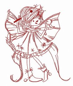 Sunshine fairy 2 machine embroidery design