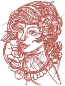 Wind in your hair embroidery design