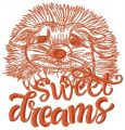 Hedgehog sweet dreams 2 embroidery design