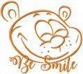 Teddy be smile free embroidery design