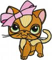 Kitty Littlest Pet Shop embroidery design