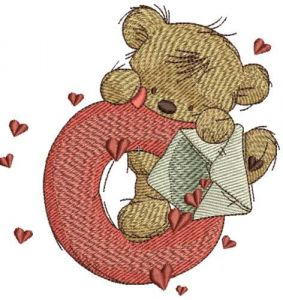 Teddy Bear with letter O
