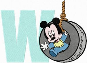 Mickey Mouse W Wheel