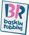 Baskin-Robbins logo embroidery design