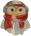 Owl the pilot embroidery design