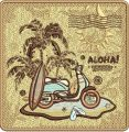 Aloha embroidery design