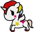 Tokidoki Unicorno embroidery design
