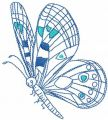 Butterfly free embroidery design 26
