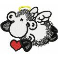 Sheepworld Sheep Angel embroidery design