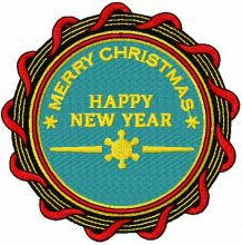 Happy New Year badge