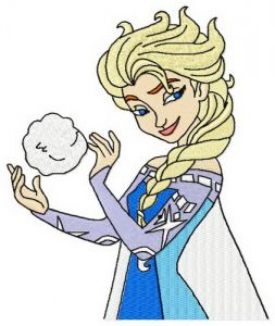 Elsa with snowball