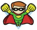 Superboy attacks 3 embroidery design