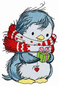 Penguin's Christmas time 7 machine embroidery design