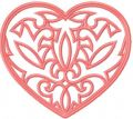Heart lace embroidery design