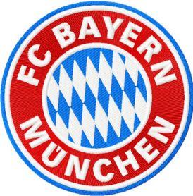 FC Bayern Munich logo machine embroidery design