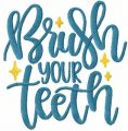 Brush your teeth free embroidery design